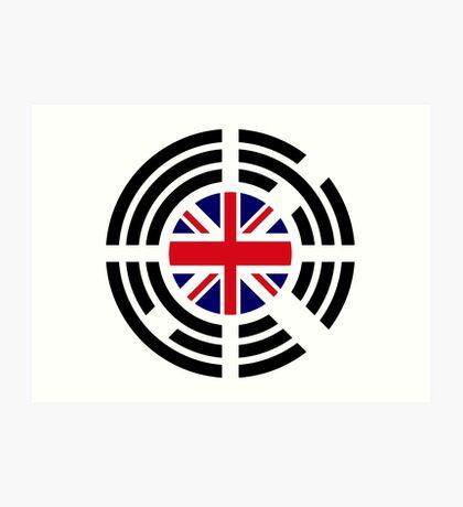 Korean Brit Multinational Patriot Flag Series Art Print