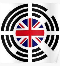 Korean Brit Multinational Patriot Flag Series Poster