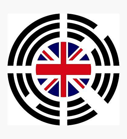 Korean Brit Multinational Patriot Flag Series Photographic Print