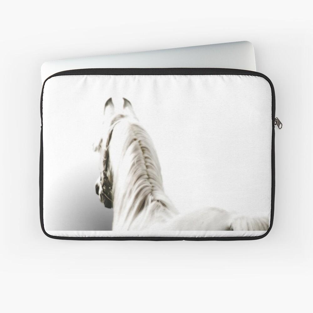 Weißes arabisches Pferd Laptoptasche