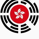 Korean Hong Kong Multinational Patriot Flag Series by Carbon-Fibre Media