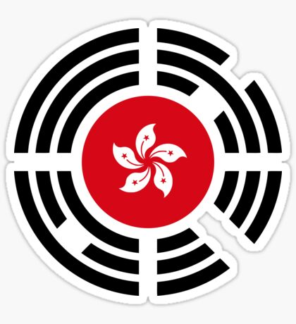 Korean Hong Kong Multinational Patriot Flag Series Sticker