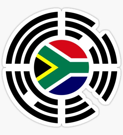 Korean South African Multinational Patriot Flag Series Sticker