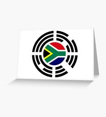 Korean South African Multinational Patriot Flag Series Greeting Card