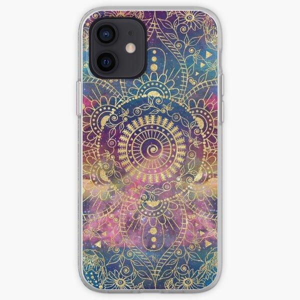 henna indio floral Funda blanda para iPhone