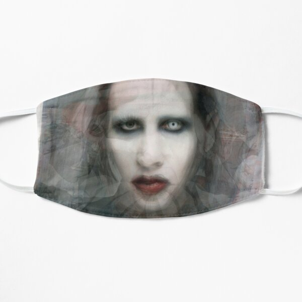 Portrait de Marilyn Manson Masque sans plis