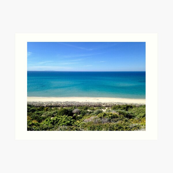 Summer Shades of Blue - Sardinia, Italy Art Print