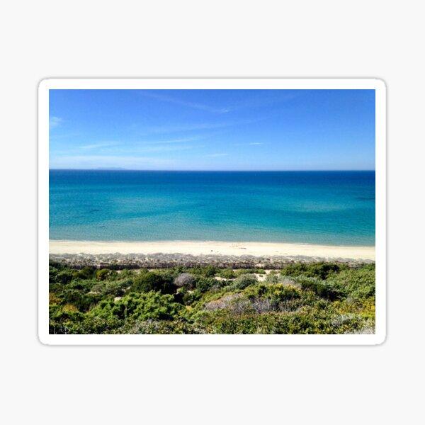 Summer Shades of Blue - Sardinia, Italy Sticker