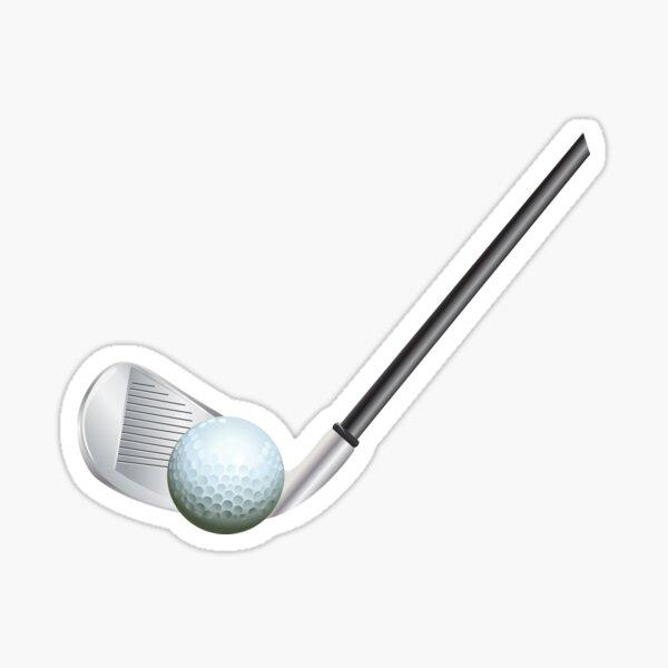 Golf stick and ball Sticker