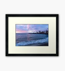 Soft and Rough - Colorful Dawn on the Lakeshore Framed Print