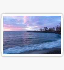 Soft and Rough - Colorful Dawn on the Lakeshore Sticker