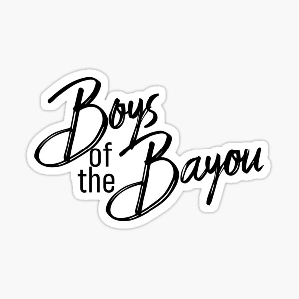 Boys of the Bayou logo Sticker