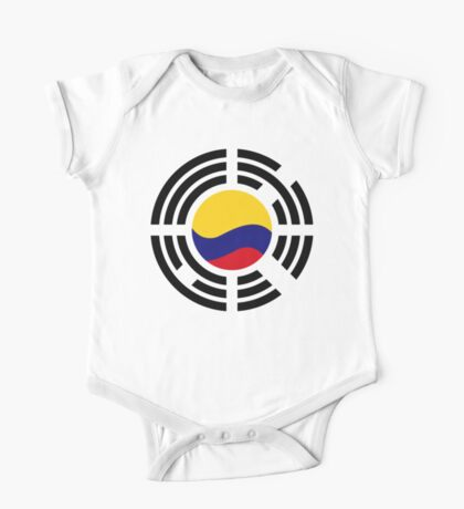 Korean Colombian Multinational Patriot Flag Series Kids Clothes