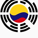 Korean Colombian Multinational Patriot Flag Series by Carbon-Fibre Media