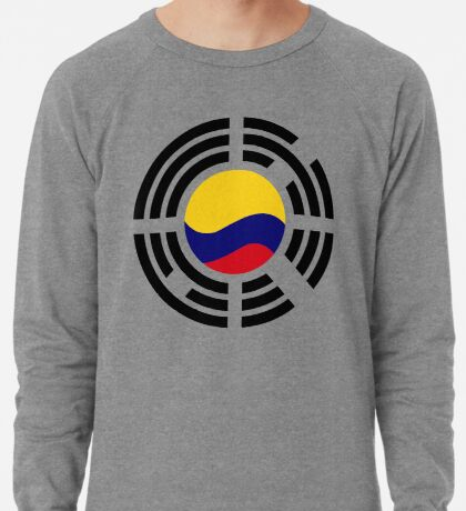 Korean Colombian Multinational Patriot Flag Series Lightweight Sweatshirt