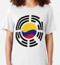 Korean Colombian Multinational Patriot Flag Series Slim Fit T-Shirt