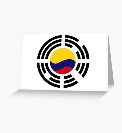 Korean Colombian Multinational Patriot Flag Series Greeting Card