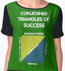 Conjoined Triangles of Success - Silicon Valley Women's Chiffon Top