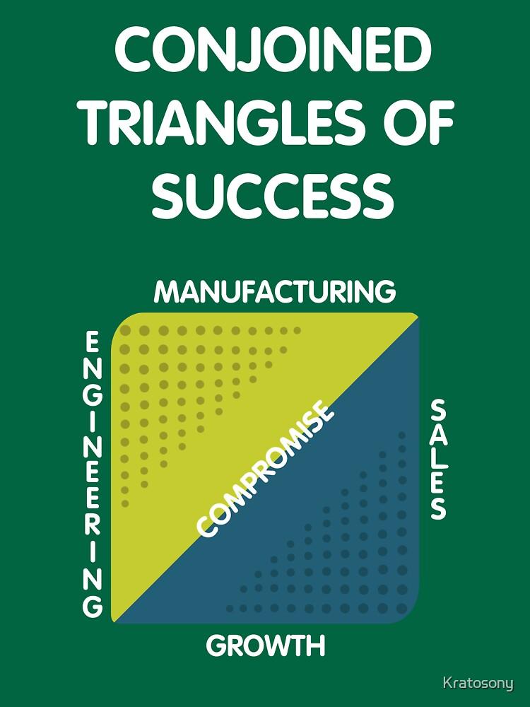 Verbundene Dreiecke des Erfolgs - Silicon Valley von Kratosony