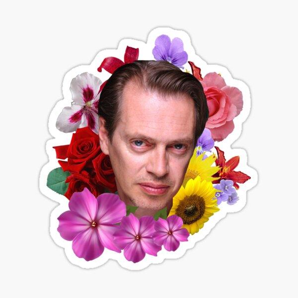 Steve Buscemi - Floral Sticker