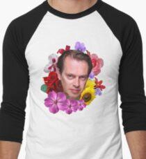 Camiseta ¾ bicolor para hombre Steve Buscemi - Floral