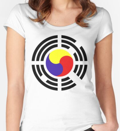 Korean Patriot Flag Series Fitted Scoop T-Shirt