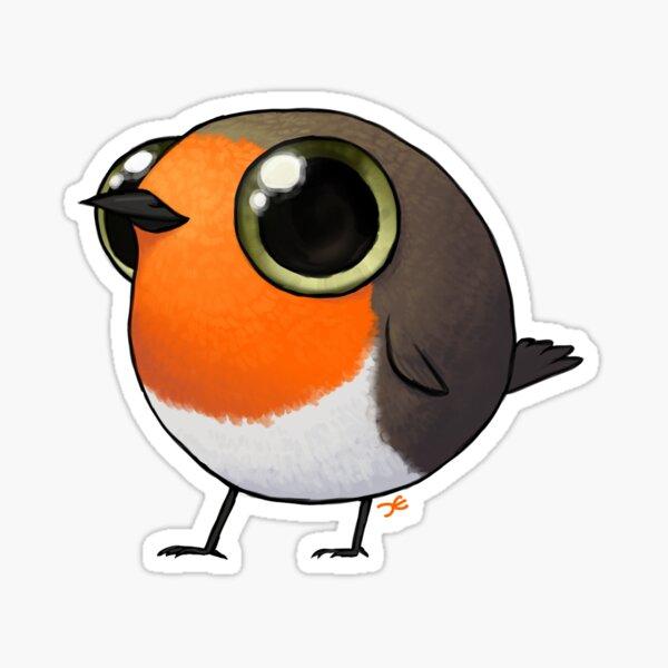 Cute Fat Robin Sticker