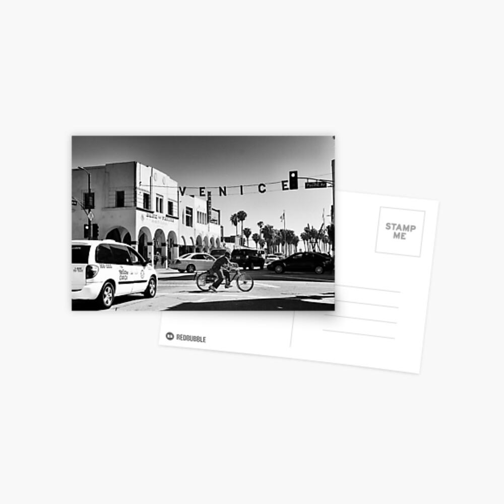 Cruising Pacific Avenue - Venice Beach California USA Postcard
