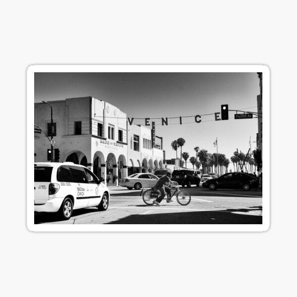 Cruising Pacific Avenue - Venice Beach California USA Sticker