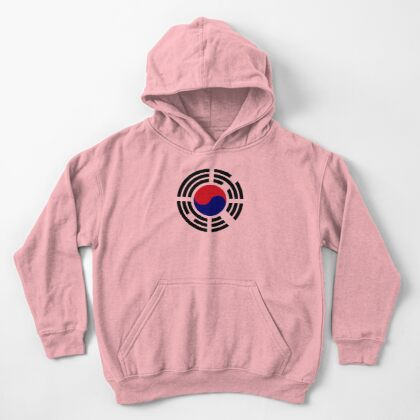 Korean Patriot Flag Series  Kids Pullover Hoodie