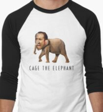 Nicolas Cage The Elephant Men's Baseball ¾ T-Shirt