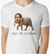 Nicolas Cage The Elephant Men's V-Neck T-Shirt