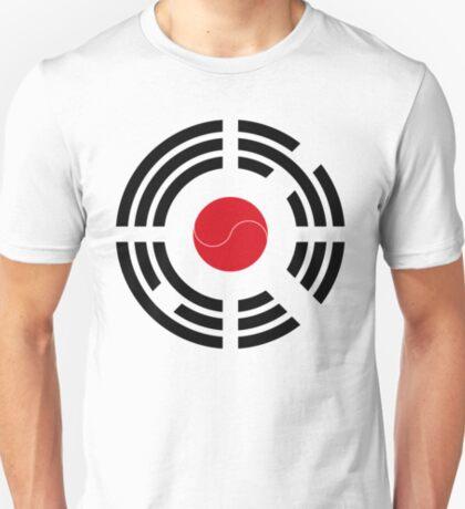 Korean Japanese Multinational Patriot Flag Series T-Shirt