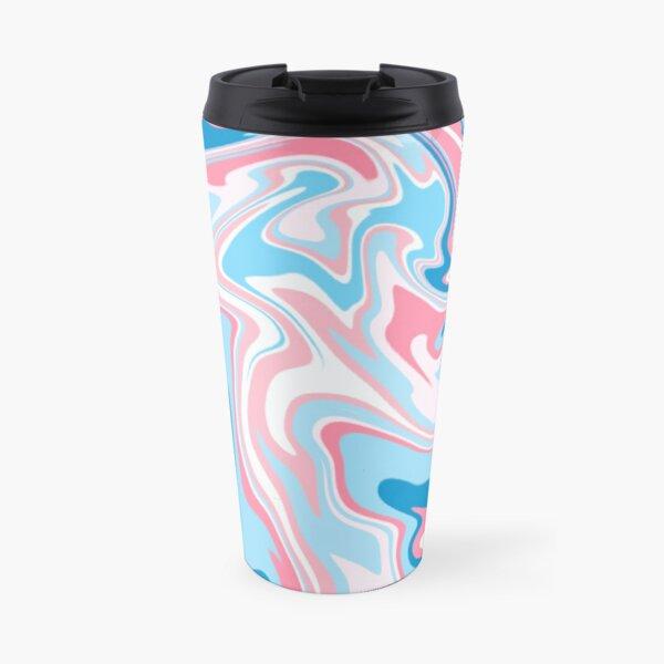 subtle trans pride marble swirl Travel Mug