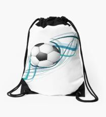 Mochila de cuerdas Diseño de onda línea de fútbol abstracto colorido