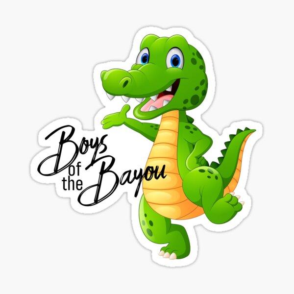 Boys of the Bayou alligator Sticker