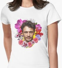 James Franco - Floral Womens Fitted T-Shirt