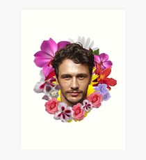 James Franco - Floral Art Print
