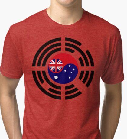 Korean Australian Multinational Patriot Flag Series Tri-blend T-Shirt
