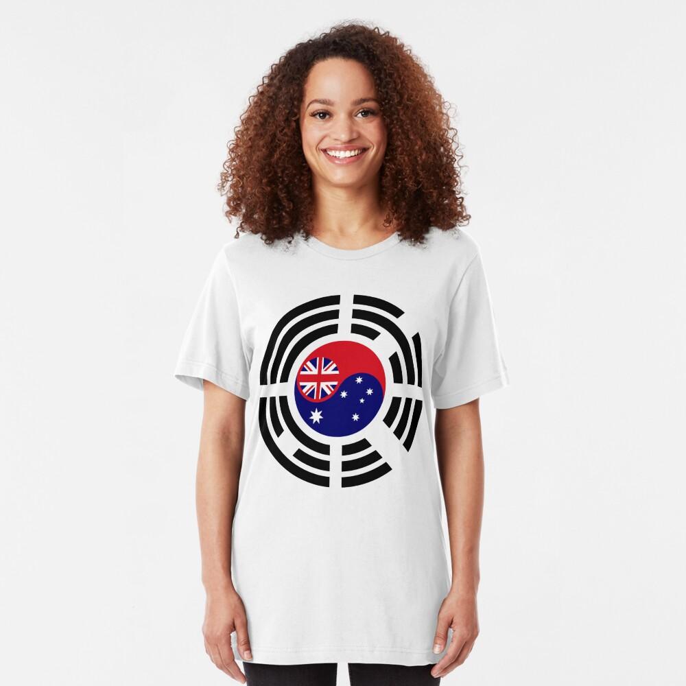 Korean Australian Multinational Patriot Flag Series Slim Fit T-Shirt