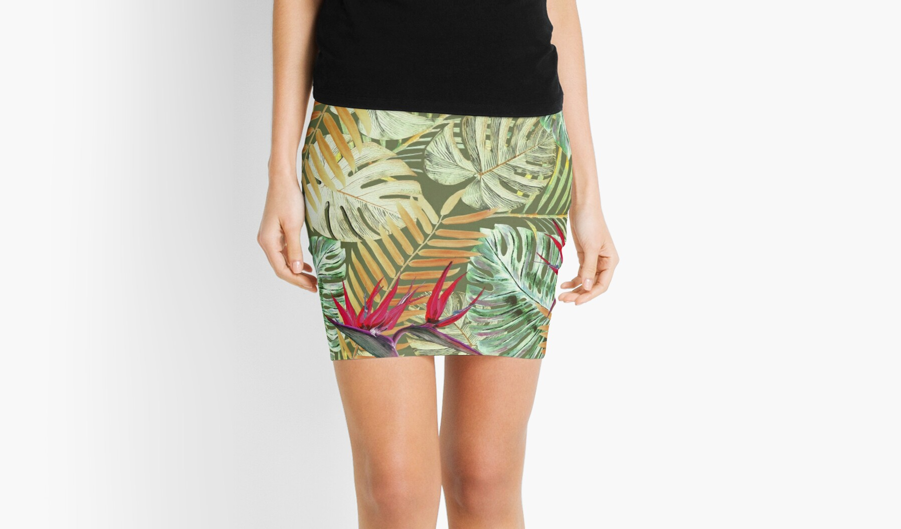 The Miniskirt is Back; Rebubble tropical skirt