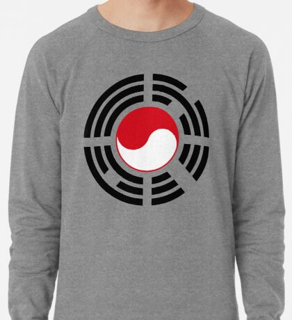 Korean Indonesian Multinational Patriot Flag Series Lightweight Sweatshirt