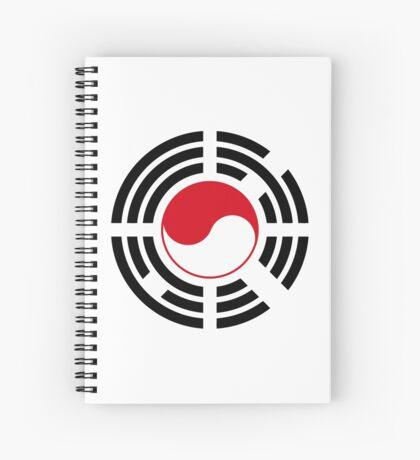 Korean Indonesian Multinational Patriot Flag Series Spiral Notebook