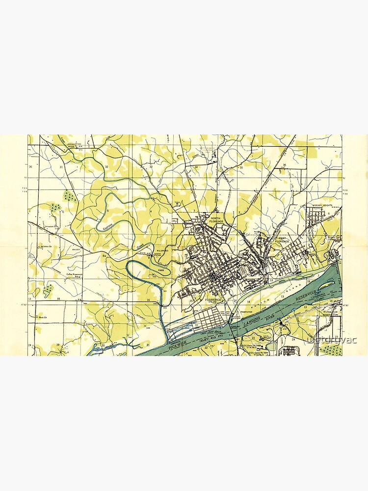 USGS TOPO Map Alabama AL Florence 303848 1936 24000 by wetdryvac
