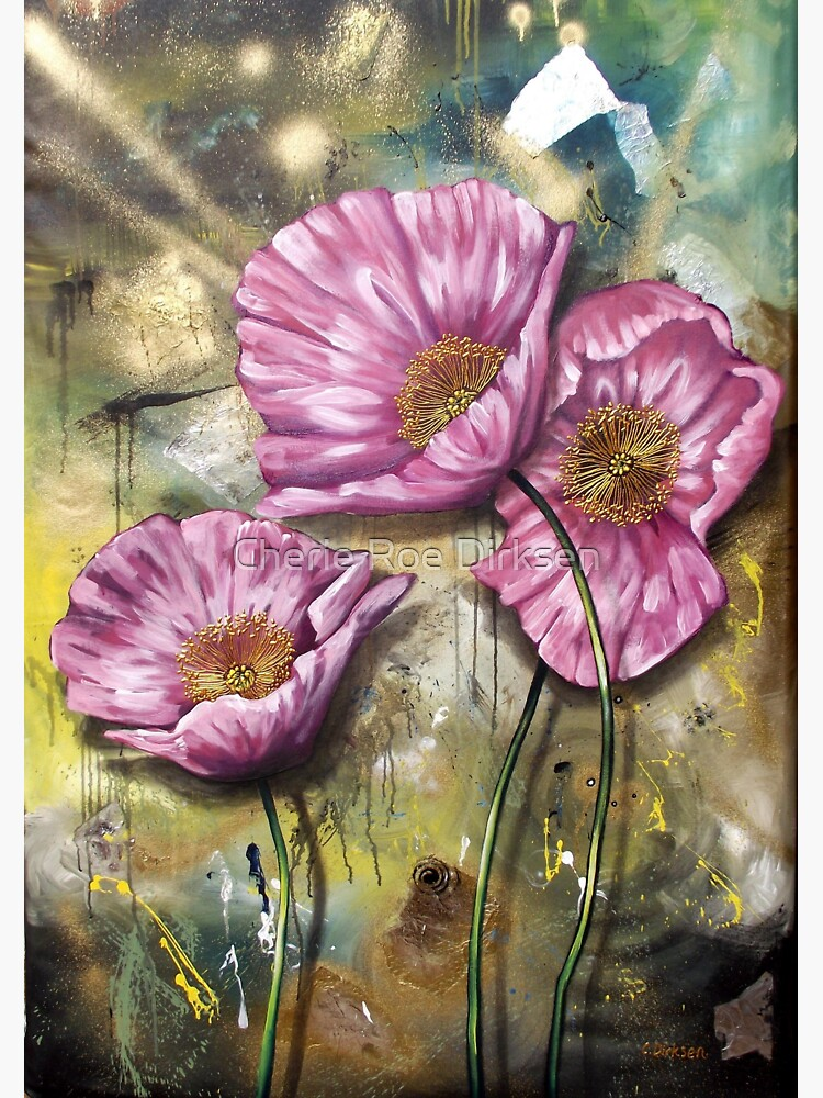 Pink Poppies (Finding Beauty in Chaos series) by cheriedirksen