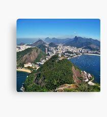 Beautiful Rio de Janeiro mountains Canvas Print