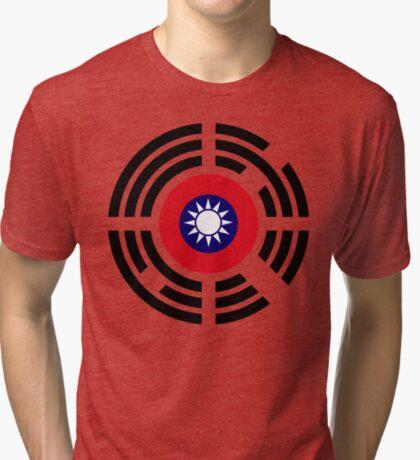 Korean Taiwanese Multinational Patriot Flag Series Tri-blend T-Shirt