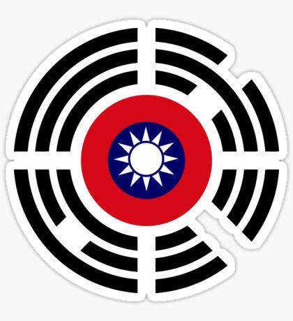 Korean Taiwanese Multinational Patriot Flag Series Sticker