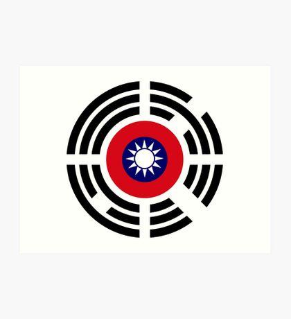 Korean Taiwanese Multinational Patriot Flag Series Art Print