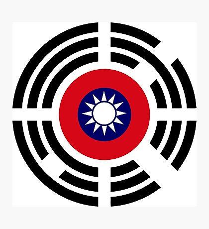Korean Taiwanese Multinational Patriot Flag Series Photographic Print